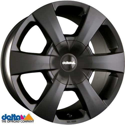 Delta4X4  Wp 16X7,5 5x130 +45 Centre bore 78.1mm Black Matt to fit Fiat Ducato